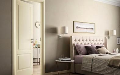 Indoor indoor door / swinging / for residential installation / lacquered